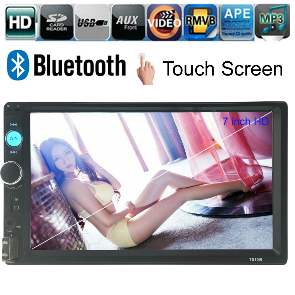 touch screen 2 din 7 inch Bluetooth Car Audio Stereo radio MP5 MP4 Player 12V Auto Video Support rear camera AUX FM USB TF(China (Mainland))