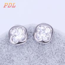 PDL Brand Stud 18k gold earrings  Brithday gift statement earrings New butterfly earrings(China (Mainland))