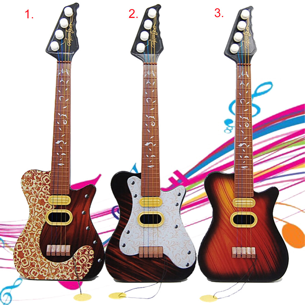 Mini Plastic Pop 4 Strings Guitar Simulation Ukulele Children Baby Educational Wisdom Development Gift Kids Musical Instrument(China (Mainland))