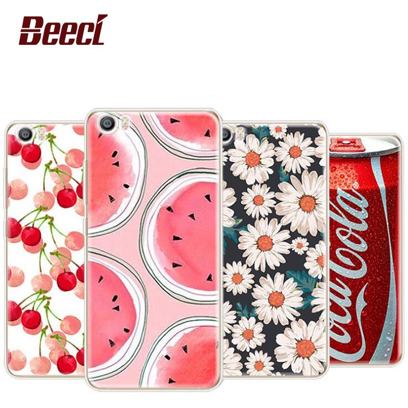 Beeci Fruits Flower Cactus Case Cover For XIAOMI5 xiaomi 5 Redmi 3 Soft TPU Case Daisy Flower phone case(China (Mainland))