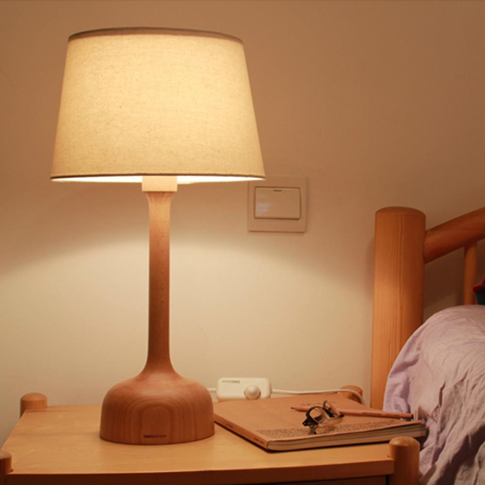 Modern Brief Diy 20 Black Walnut E14 Bedroom Room Light Table Lamp For Home Decor Desk Reading