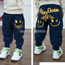 Retail 2015 New spring autumn cotton kids pants Boys Girls Casual Pants 2 Colors Kids Sports