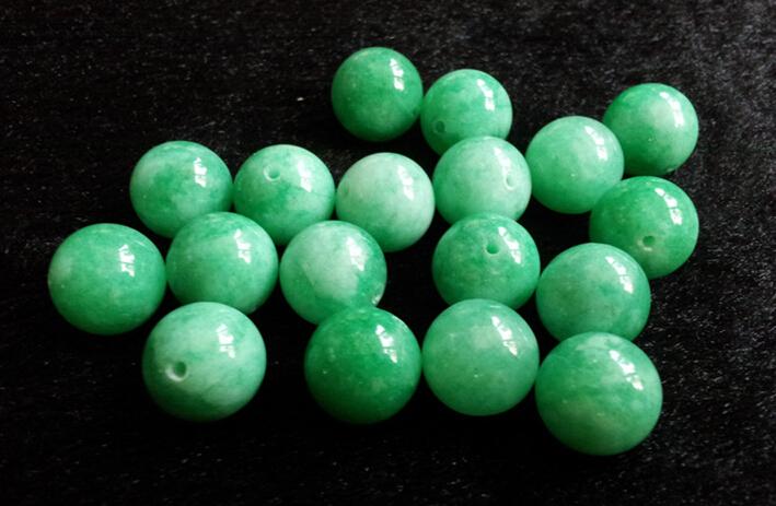 10mm 100pcs wholesale natural jade loose jadeite bead for ...