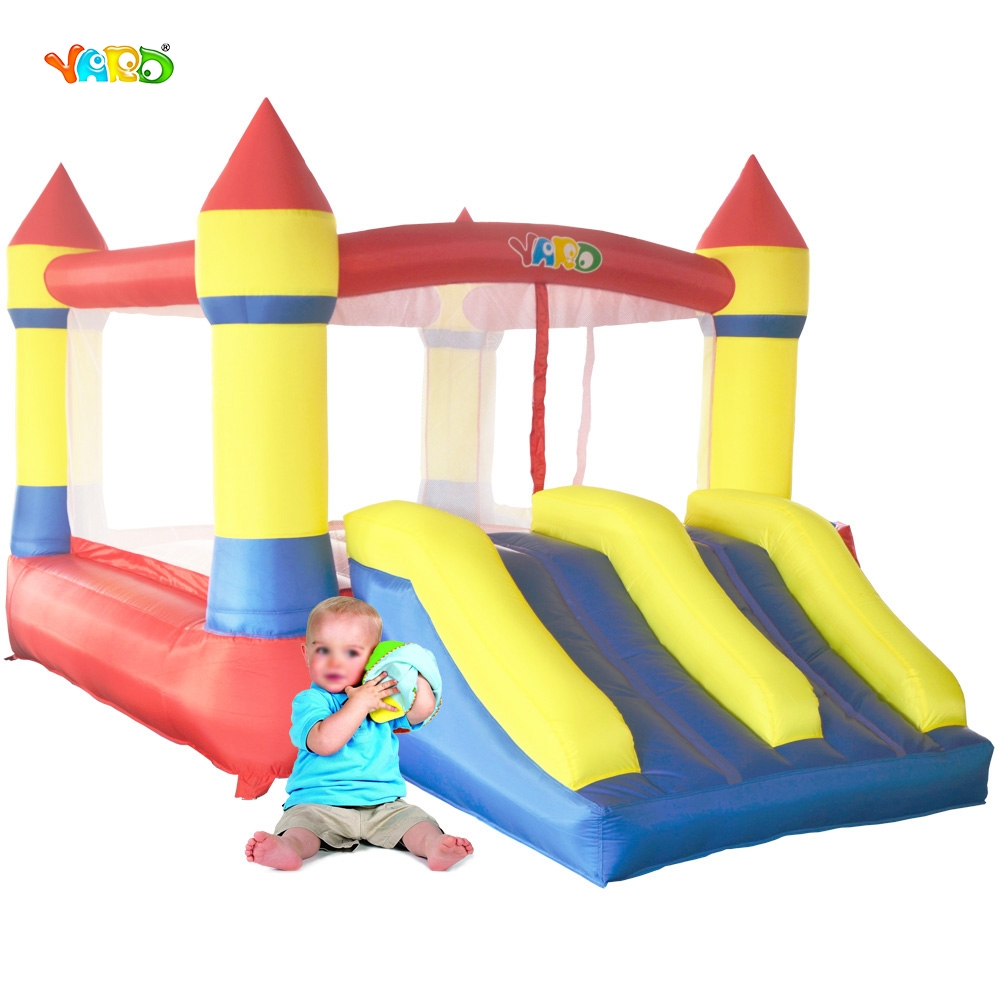 YARD Home Use Mini Inflatable Bouncers Kids Bouncy Castle Outdoor Backyard Playing Trampoline with Blower(China (Mainland))