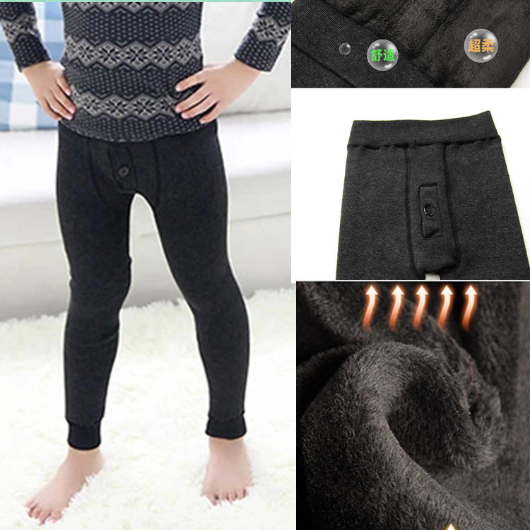 Free Shipping autumn winter children Warm pants elastic top boy Long Johns kid's warm Underwear student's thermal leggings(China (Mainland))
