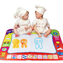 High Quality 78 x 58cm Water Drawing Painting Writing Mat Board Magic Cloth Pen Doodle Aquadoodle Toy (China (Mainland))