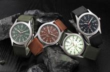 New Relojes Fashion Men Watches Military Army Men's Date Canvas Band Sport Dress Men Watches 2015 Brand Luxury Wrist Watch