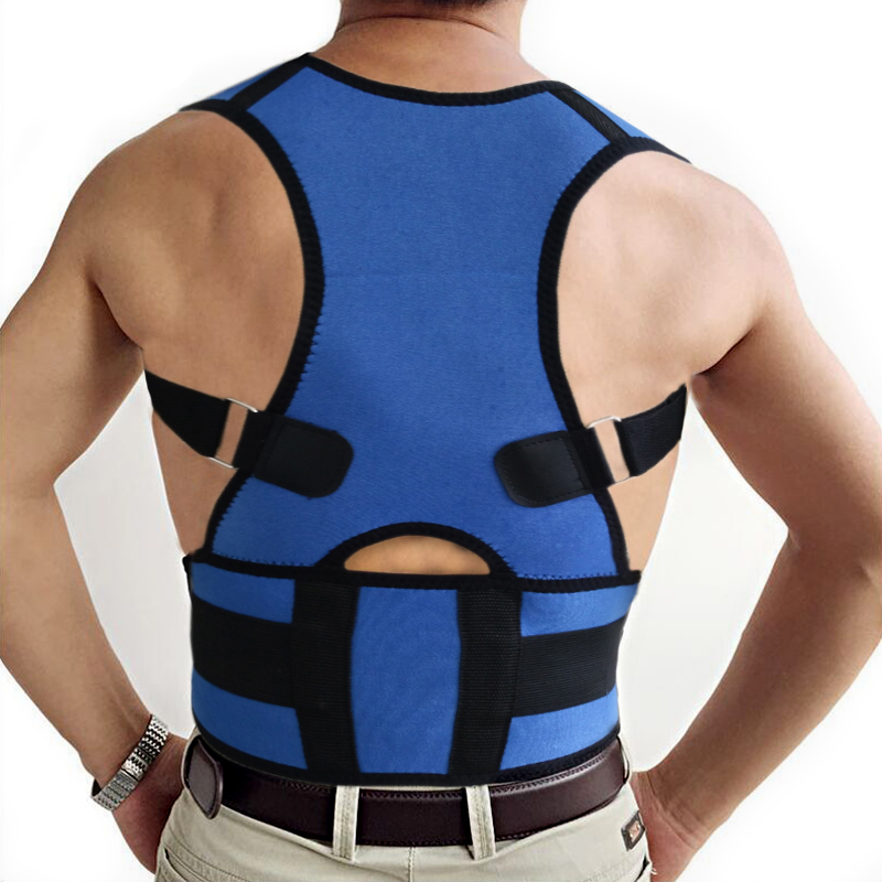 Black and blue Power Magnetic back posture support Power Magnetic Posture Support shoulder posture brace(China (Mainland))