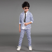 formal suits for teenagers  coat+pants clothing set 2 pieces birthday  wear children 2015 autumn fall big boys clothes(China (Mainland))