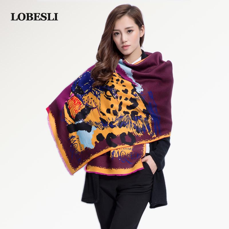 lobesli 2015 brand name wool winter scarf warm