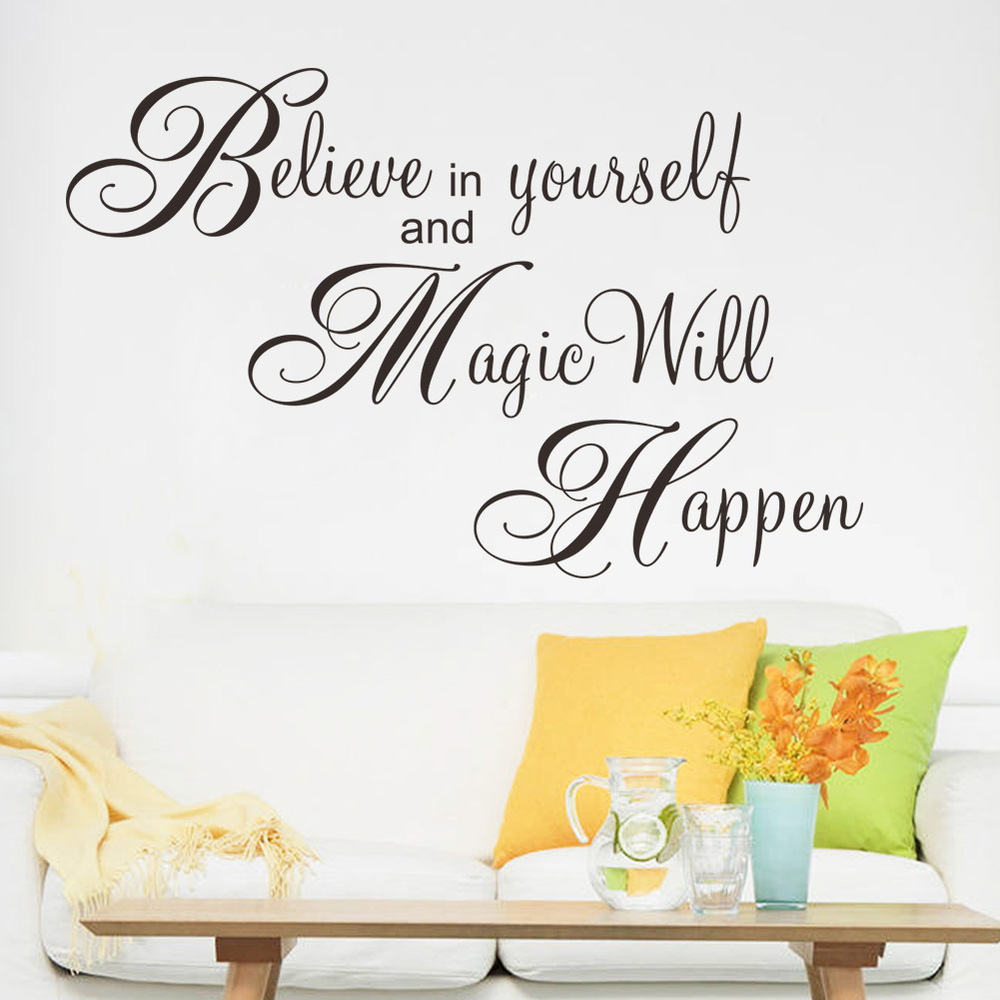 Magic Will Happen Inspiration Quote Wall Sticker For Living Room Bedroom Decal Home Decor