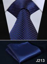 "Check Floral Striped Dot 3.4"" Silk Wedding Jacquard Woven Men Tie Necktie Pocket Square Handkerchief Set Suit J2-1(China (Mainland))"