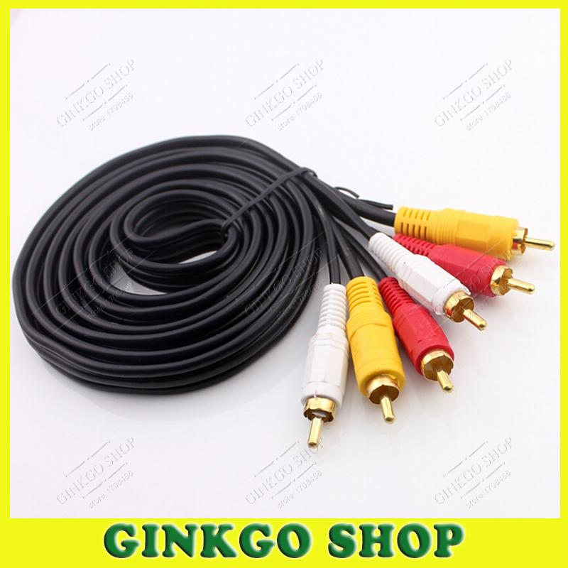 15piece/lot Gold-plated Lotus 3 to 3  RCA Male Audio Component Convert Cable Audio Video Connection<br><br>Aliexpress