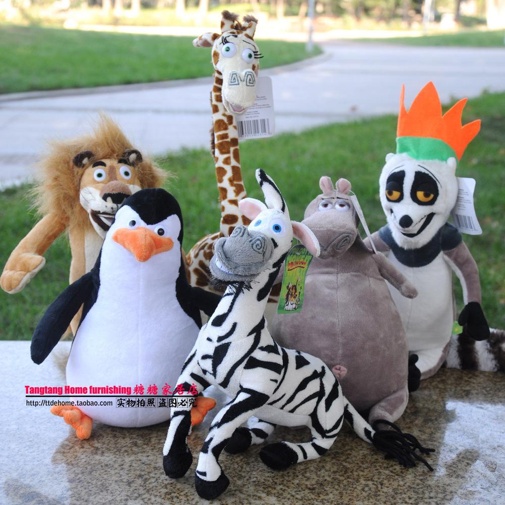 Madagascar 3 giraffe melman hippo lion lemur penguin plush toy doll(Ultra- trumpet)  -  merry xu's store store