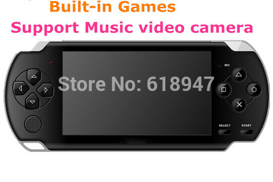 New 4.3 inch 4GB Portable game console Bulit in Camera PMP TV OUT Vedio Handheld Game Player Free 2000 games MP3 MP4 MP5 Player(China (Mainland))
