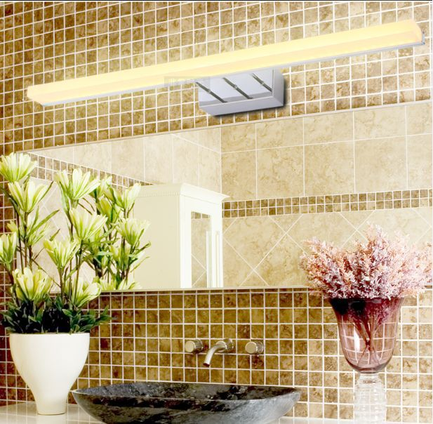 Waterproof led anti fog mirror lamp bathroom simple modern wall mirror cabinet light vanity - Simple ways keep bathroom mirror fogging ...
