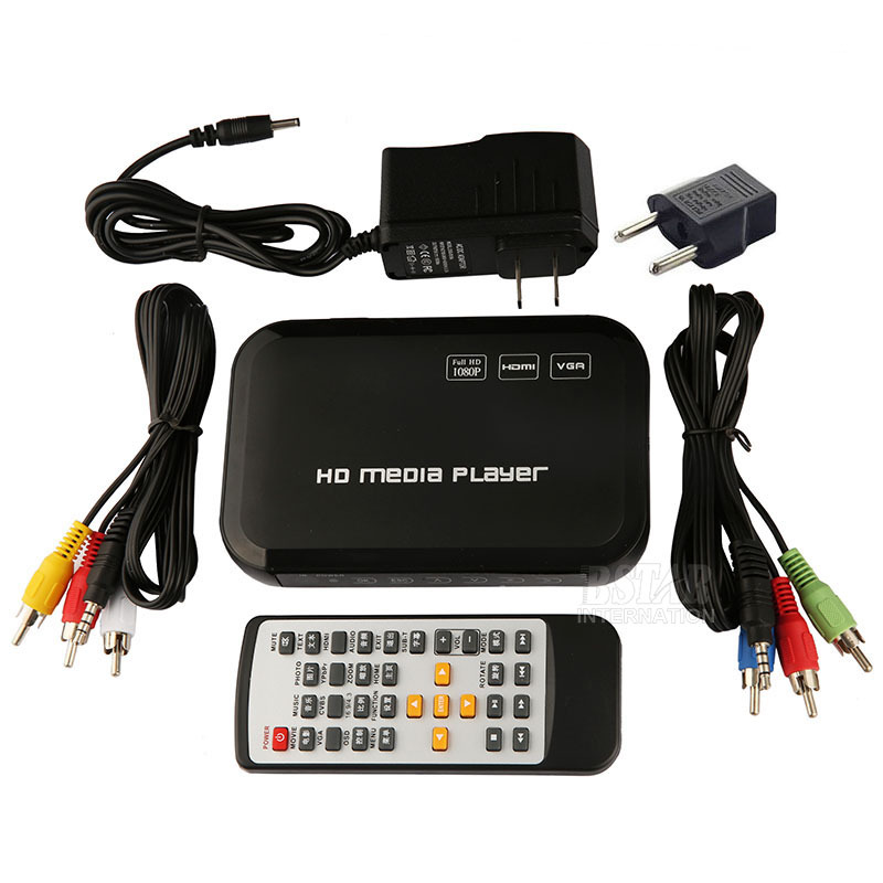 New Digital USB Full HD 1080P HDD Media Player HDMI VGA SD MMC Support DIVX AVI RMVB MP4 H.264 FLV MKV Music Movie(China (Mainland))