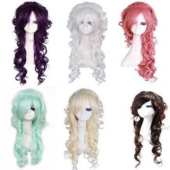 69cm Ojou-Curl Long Princess Cosplay Wigs – Comes in Dark Brown, White, Blonde, Purple, Pink