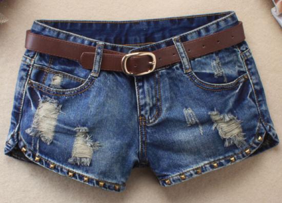 Compra mini pantalones cortos de jean online al por mayor ...