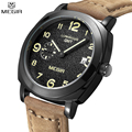 MEGIR Famous Brand Fashion Men Sports Watches Quartz Brown Strap Black Dial Waterproof Wristwatch Male Relogio