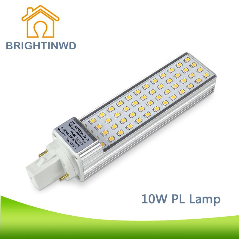 BRIGHTINWD LED PL Lamp CFL Light 2PIN Bulb Bar PLL G24 AC 85~265V LED Corn Lamp Commercial Downlight Indoor Light(China (Mainland))