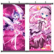 45X95CM Tsukiyono Chakai Tinkle Lily Cafe Little Wish Cartoon Anime wall picture mural scroll poster art cloth canvas painting