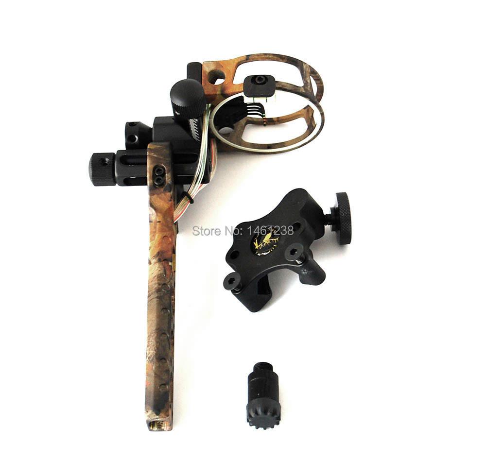 Camo archery compound bow sight  TP7550 5pins 0.019