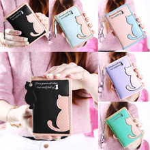 Buy Cartoon Cat Style Purse Fashion Cute Women's Wallet Bifold PU Leather Coin Purse Womens Bag Clutch Hand Bag for $7.62 in AliExpress store