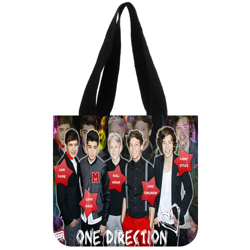 Nice Designed Canvas Tote Bag Customized Music Band One Direction Tote Bag 02(China (Mainland))