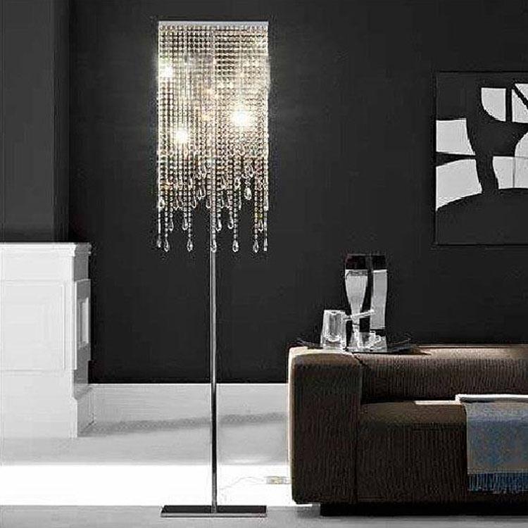 Promotion Quality Modern K9 Crystal Lampshade Floor Lamp Floor Light Indoor L