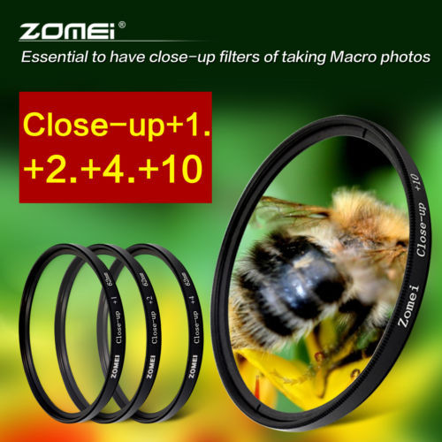 ZOMEI 77mm Close up Macro +1+2+4+10 Filter Set for Canon 70-200 Nikon HOYA LENS(China (Mainland))
