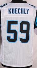 Wholesale Men's #59 Luke Kuechly Jersey Team Black White Blue Stitched Cheap Luke Kuechly Sports Jerseys Free Fast Shipping(China (Mainland))