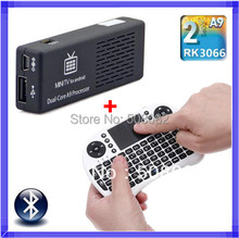 MK808 Mini PC Android 4.4.2 tv box Wifi RK3066 Cortex A9 Dual Core TV BOX HDMI + Touchpad  Rii i8 fly air mouse(China (Mainland))
