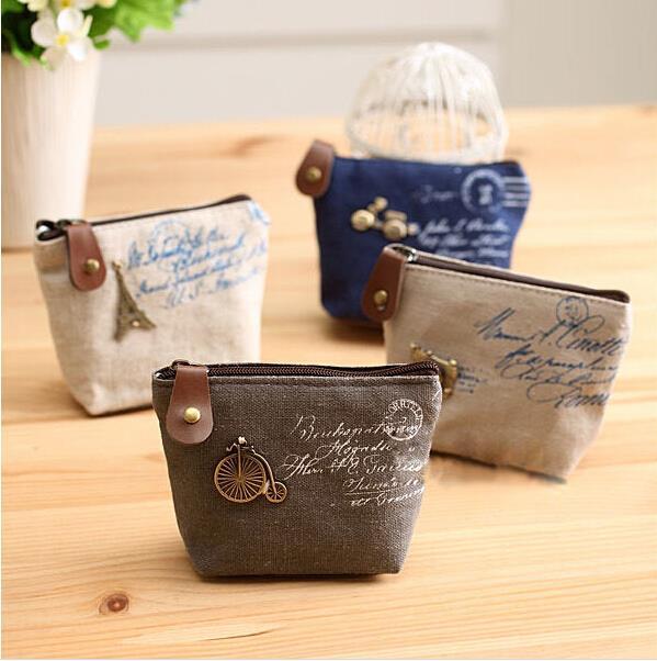 Small Women Purse Retro Canvas Coin Car Bag Children's Wallets Zipper Pouch Billeteras Carteras Bolsos Portamonete BB120-SZ+(China (Mainland))