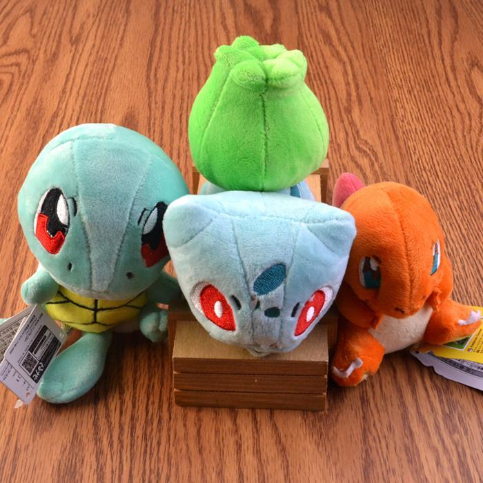 1Pcs Pokemon Plush Toy kawaii Squirtle Charmander Bulbasaur Plush Dolls cute Stuffed Animal Plush Toy For Kids Christmas Gift(China (Mainland))