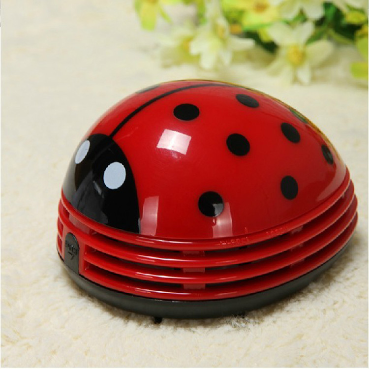 Mini Home/Office Ladybug Desktop Coffee Table Vacuum Cleaner Dust Collector Decorate(China (Mainland))