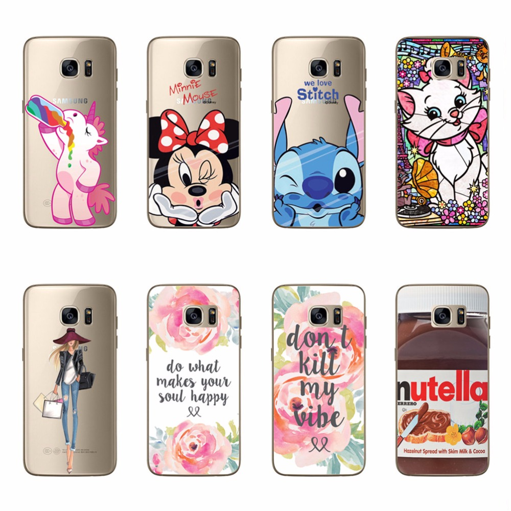 Mickey Minnie Cat Rose Flowers Nutella Girl Coffee Patterns Soft Silicone Phone Bag & Cases For Samsung Galaxy C5 Fundas Covers(China (Mainland))
