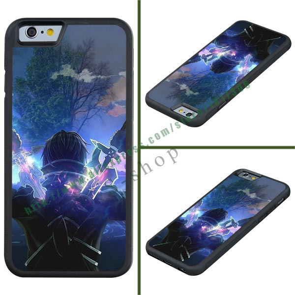 Latest Design Popular Japanese Anime Sword Art Online For iPhone 6 Custom Leather Cases for Cell Phones Sample sales(China (Mainland))