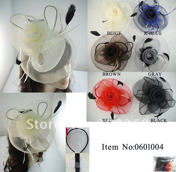 Free shipping  Colorful Charm Royal Hats/Veil Fascinator cocktail hat fascinator top hats 12pcs/lot