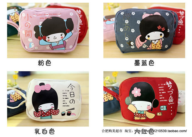 2014 limited seconds kill women print casual canvas yes double zipper coin purse mobile phone bag zakka women's wallet