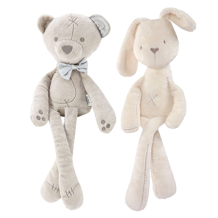 1pc mamas&papas millie boris soft toy Comforter Toys bear rabbit for baby 43cm , free shipping(China (Mainland))