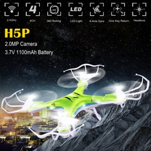 2.4GHz 4CH Drone JJRC H5P Helicoptero with 3.7V 1100mAh Large Capacity Battery 2.0MP HD Camera Rc Quadcopter