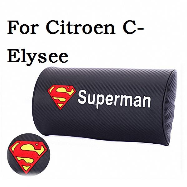 For Citroen C-Elysee Headrest Car Automotive Interior Cushion Car Accessories Car Styling 1X(Embroidery LOGO)(China (Mainland))