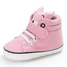 1 par otoño zapatos de bebé chico chica Fox cabeza de encaje de algodón de tela bendición zapatos, zapatos de bautismo de niño, Zapatos Niño, Zapatos Niño, zapatos de Anti-deslizamiento suela suave zapatillas de deporte Niño y13(China)