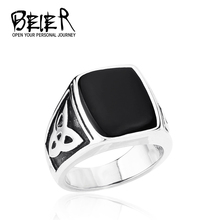 Hot!  Men's Cool Fashion Black Ring Stainless Steel Jewelry Egyptian Pattern  Free Shipping TG0081