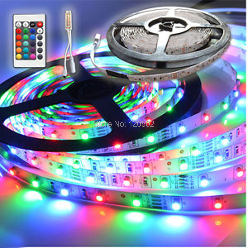 60 led m led strip light 24key mini remote control in led strips. Black Bedroom Furniture Sets. Home Design Ideas