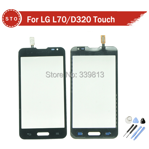Original Touch Screen Glass Digitizer for LG Optimus L70 D320 D315 LS740 Black or White + Tools Free shipping