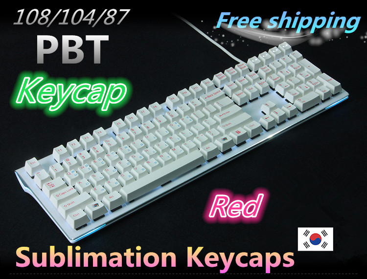 New Arrival 108/104 keys PBT keycap for OEM Profile Cherry MX switch Korean version Mechanical Gaming keyboard Keycaps(China (Mainland))