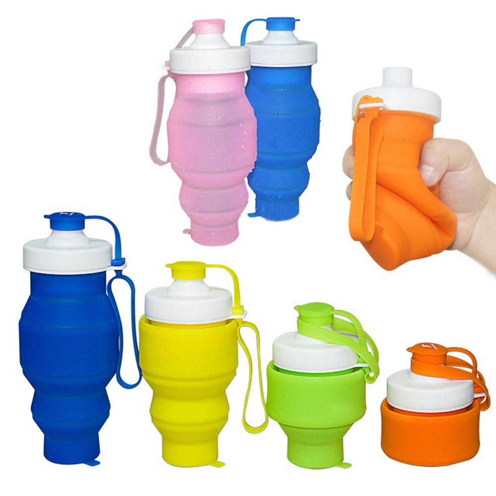 2016 New Folding Water Cup Outdoor Travel Telescopic Collapsible Drinking Portable Silicone Retractable Bottle My Sports Mug(China (Mainland))