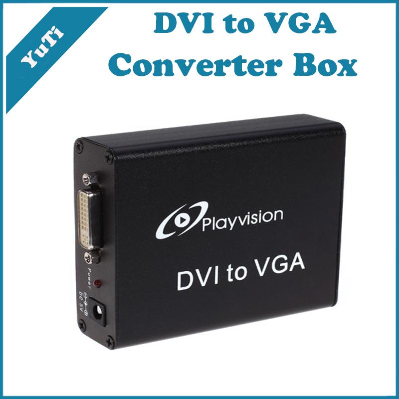 High-performance DVI to VGA Format Converter Box Digital DVI/RGB Signal to analog PC RGB signal Supports HDTV Resolutions(China (Mainland))